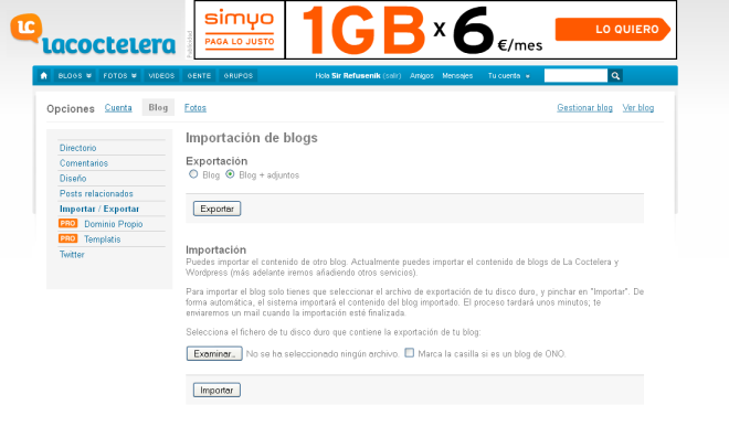 Exportar Blog+adjuntos